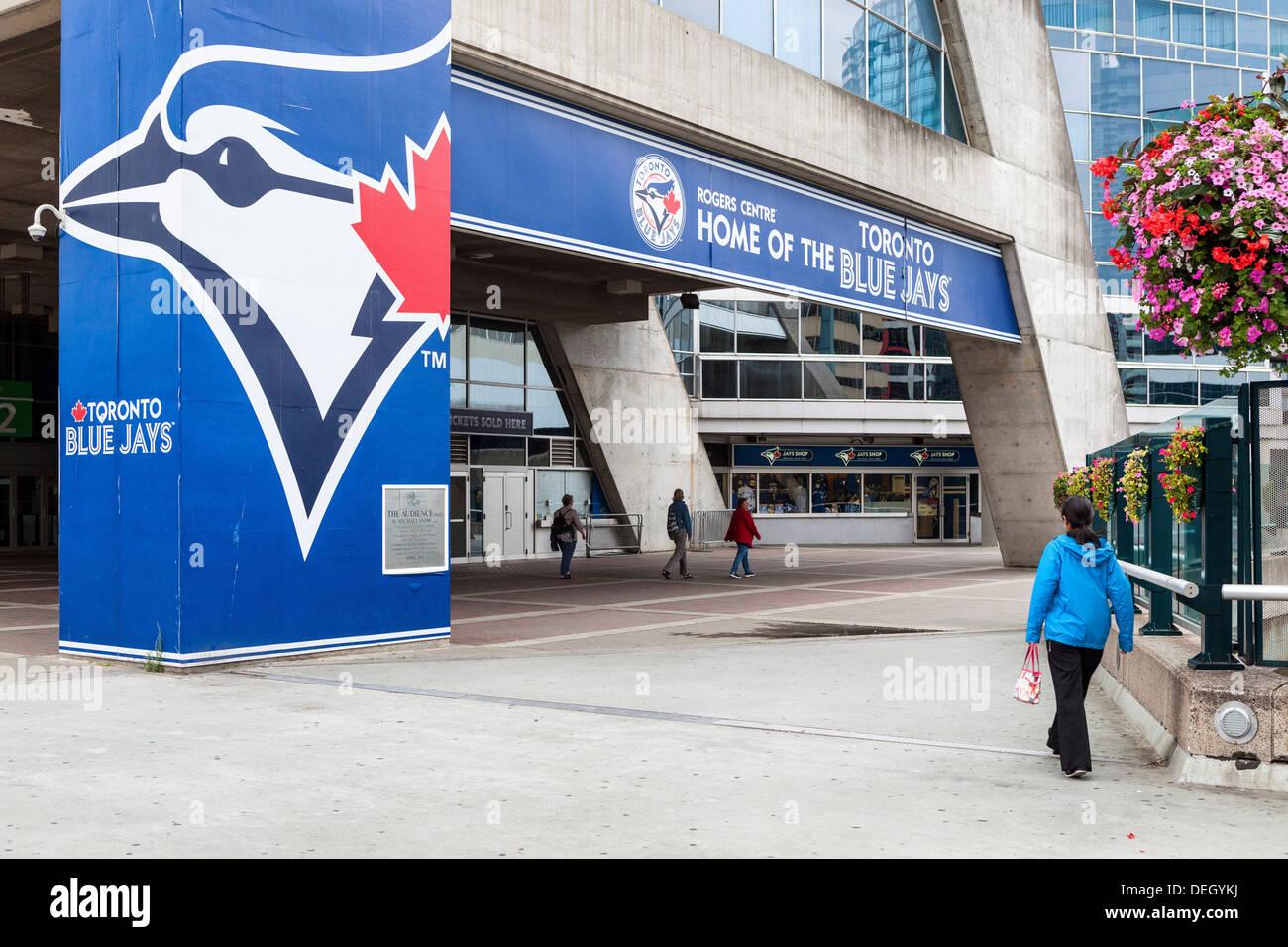 Entrance to the Rogers Centre, stadium of the Blue Jays baseball team, Toronto - Stock Image