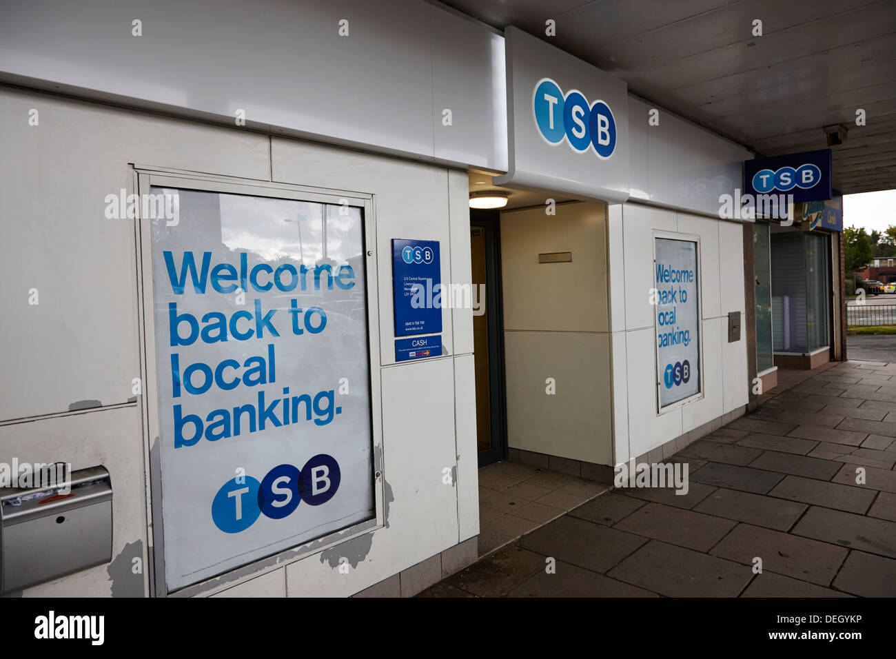 branch of newly reopened TSB bank retail bank in the uk - Stock Image