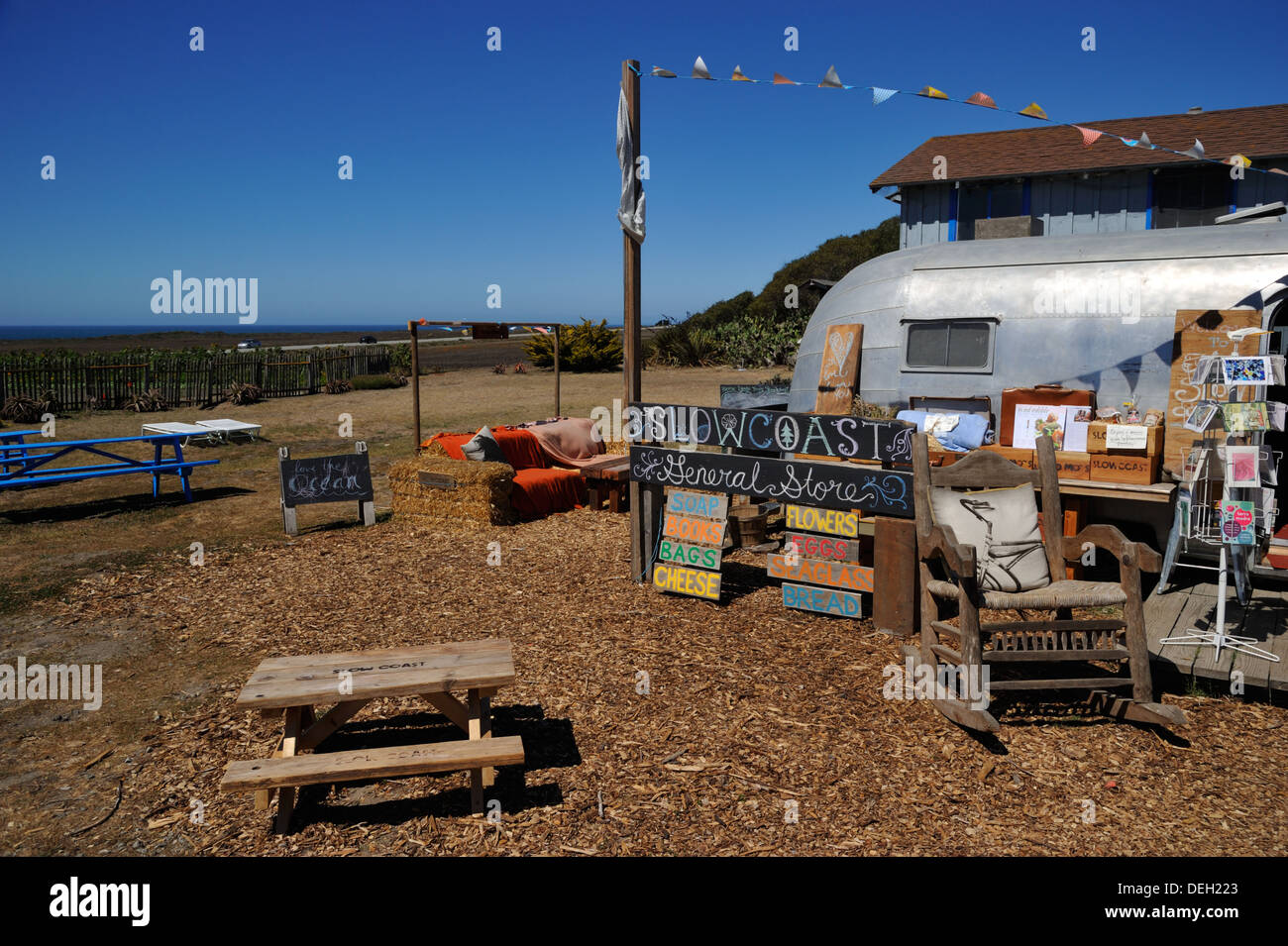 Slowcoast Farm, Davenport CA - Stock Image