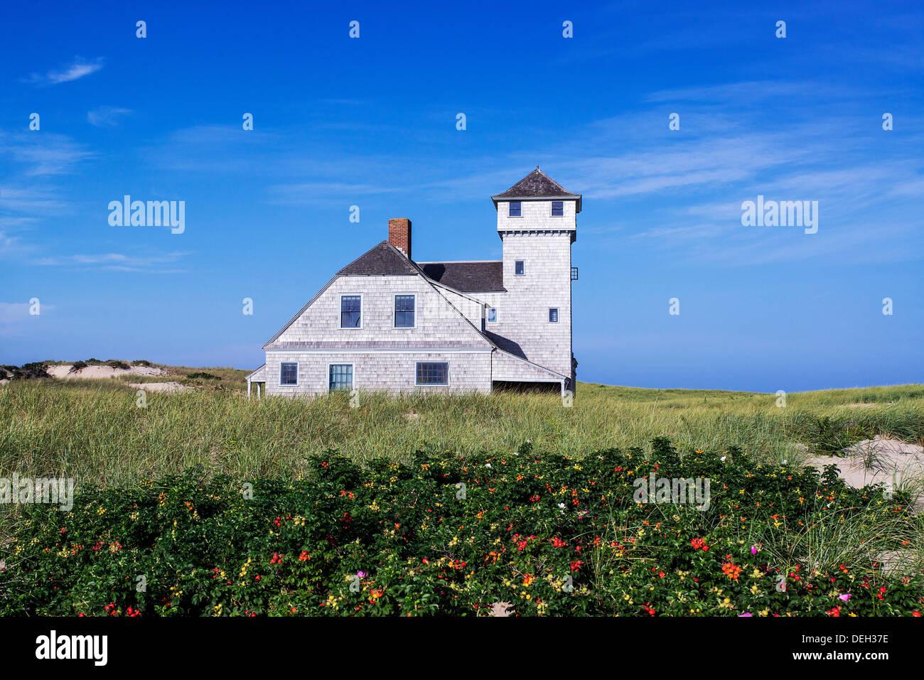Old Harbor Life Saving Station Museum, Race Point, Cape Cod, Massachusetts, USA - Stock Image