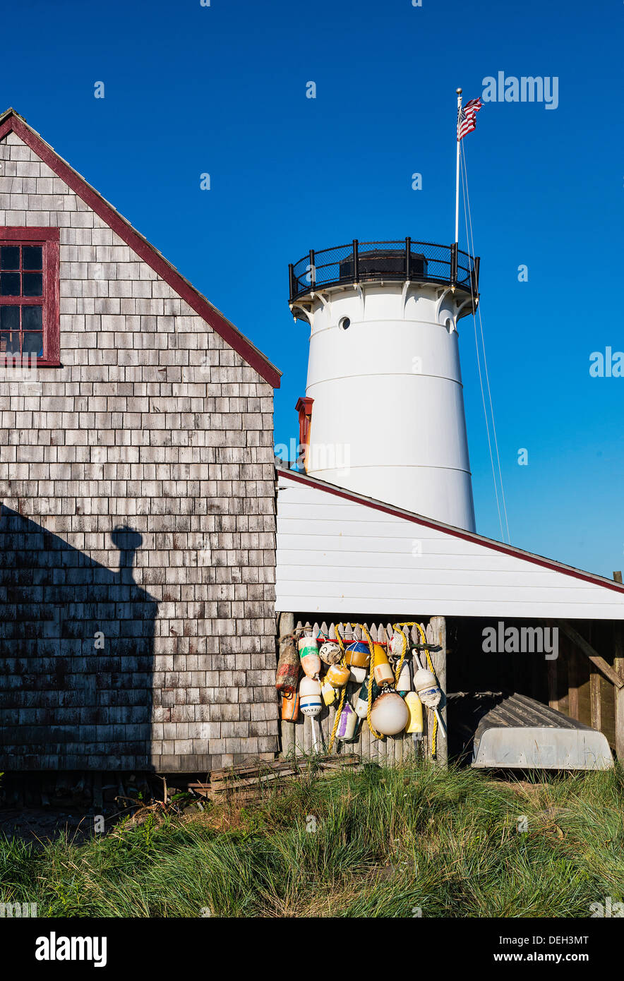 Stage Harbor Lighthouse, Chatham, Cape Cod, Massachusetts, USA - Stock Image