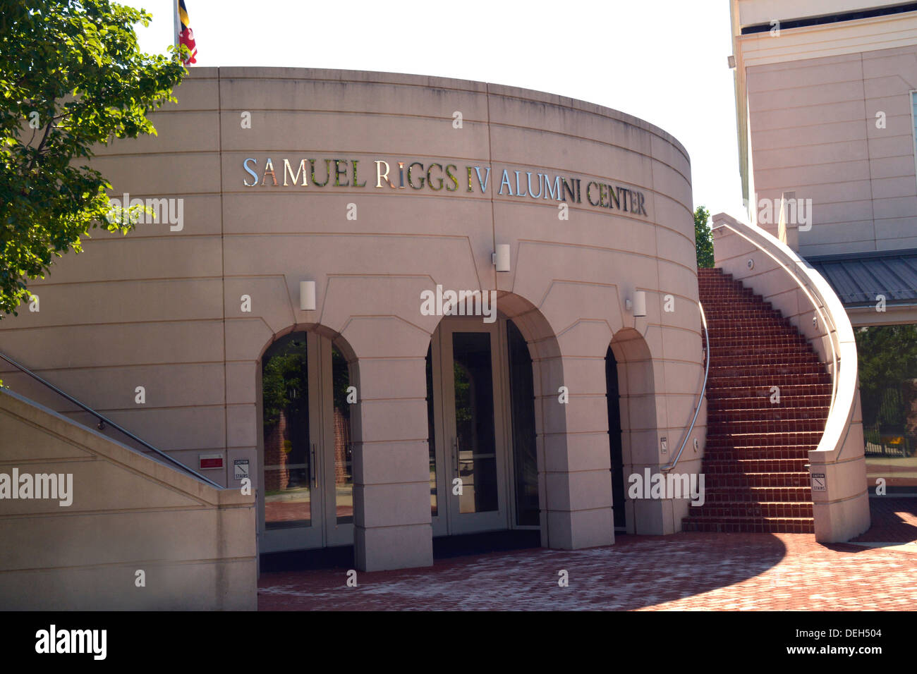 The Samuel Riggs Alumni Center at the University of Md in College Park, Md - Stock Image