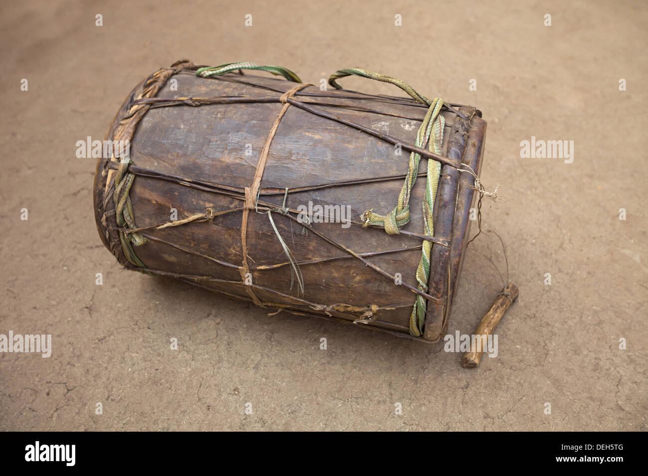 Musical instrument Drums, Orissa, India - Stock Image