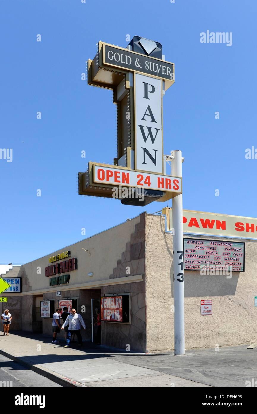 Pawn Shop Las Vegas Nevada - Stock Image
