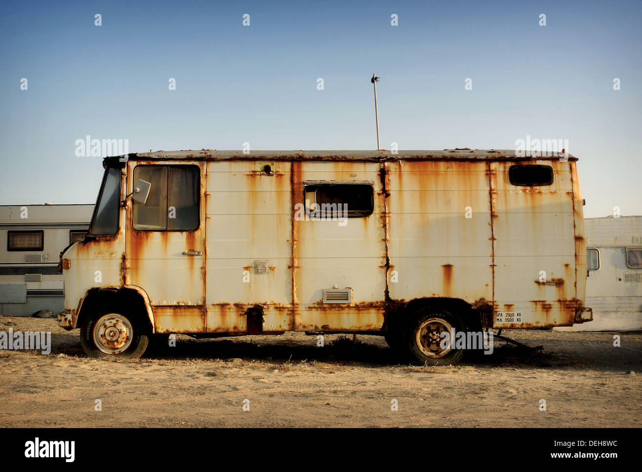 Old mobile home. Fuerteventura, Canary Islands, Spain Stock ... on mobile cars commercial, mobile health, heales is home commercial,