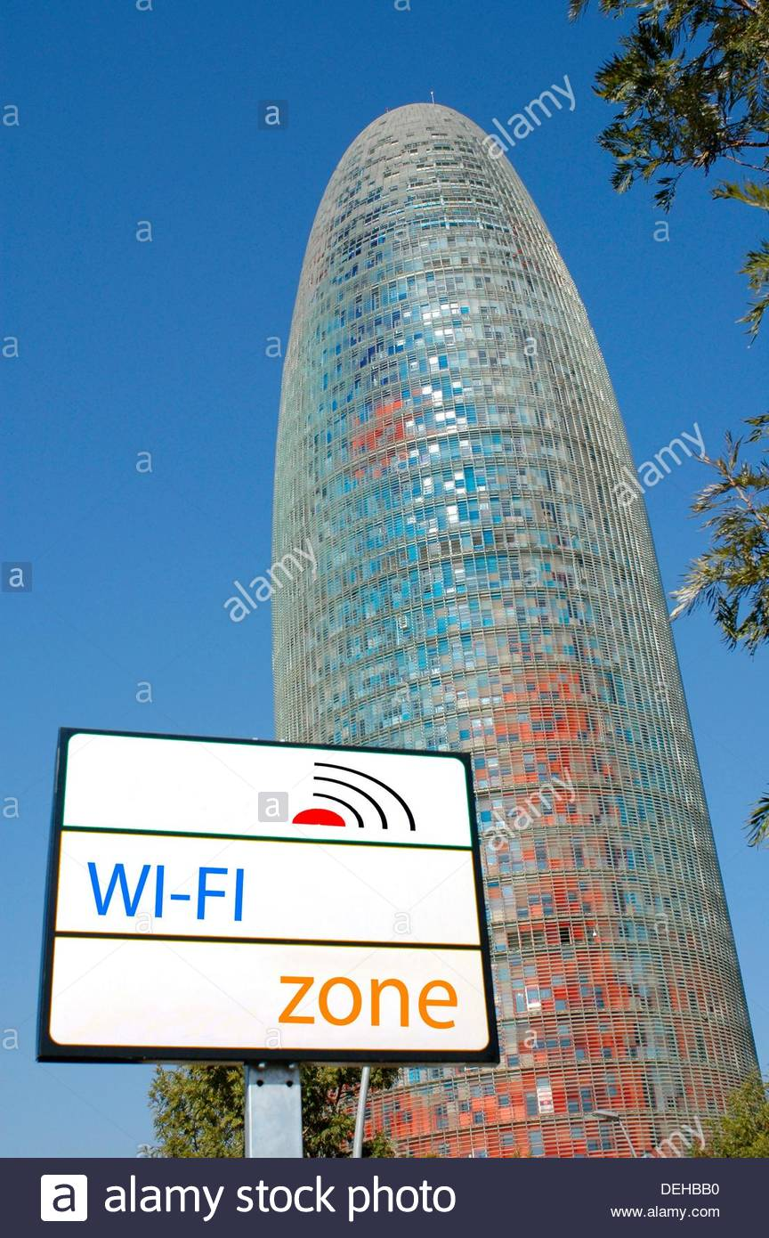 Agbar Tower 142 m   by Jean Nouvel, Barcelona  Catalonia, Spain - Stock Image
