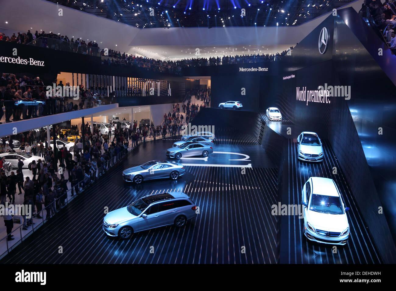 International Motor Show in Frankfurt, Germany. Mercedes ...