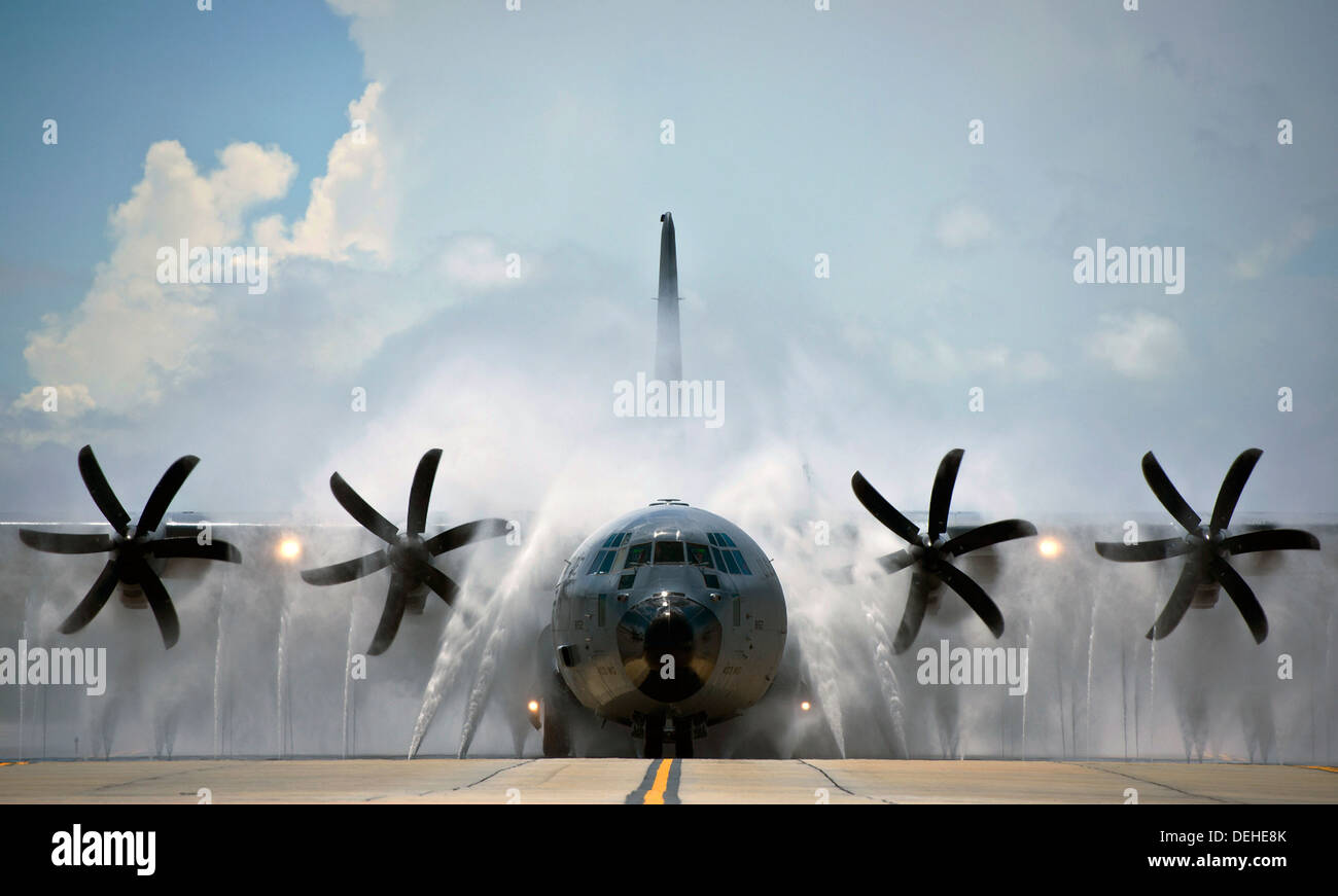 A Us Air Force Wc 130 Hercules Transport Aircraft With The 53rd