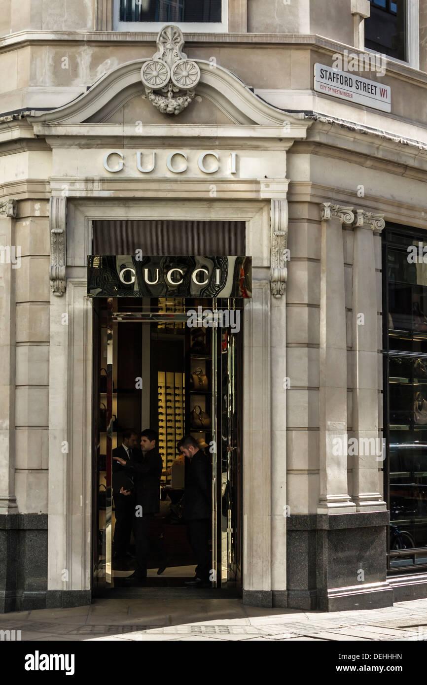 Staff Inside the Old Bond St. Gucci Store Entrance London, UK Stock ... c59e0980b5a