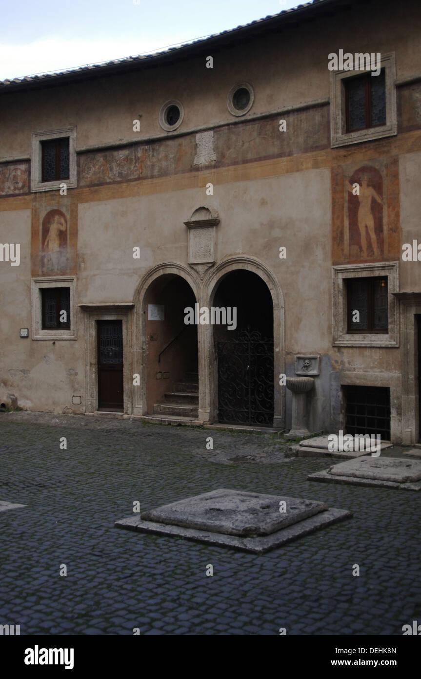 Italy. Rome. Mausoleum of emperor Hadrian or Castle Sant'Angelo. - Stock Image