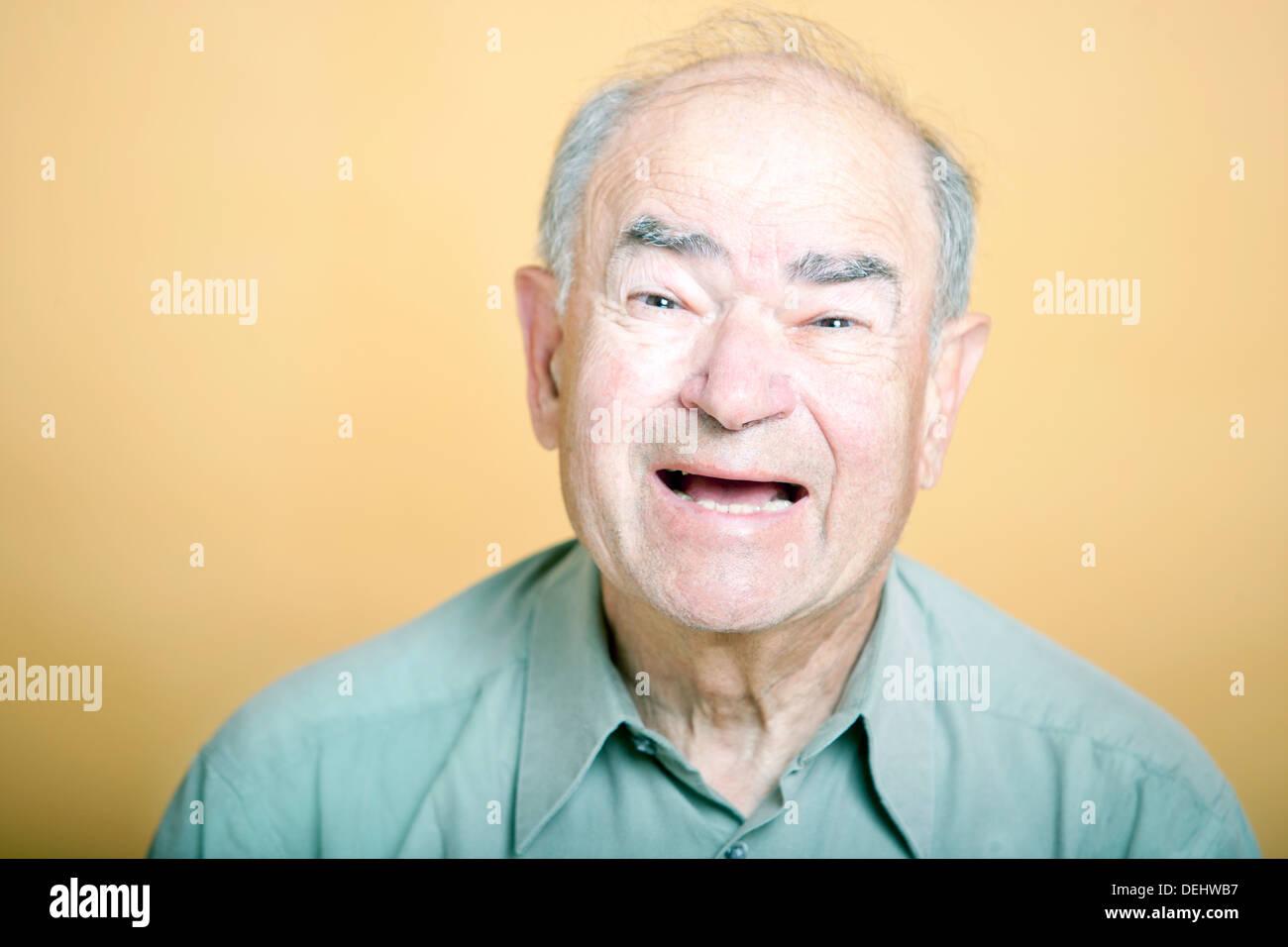 Senior Adult man laughing - Stock Image