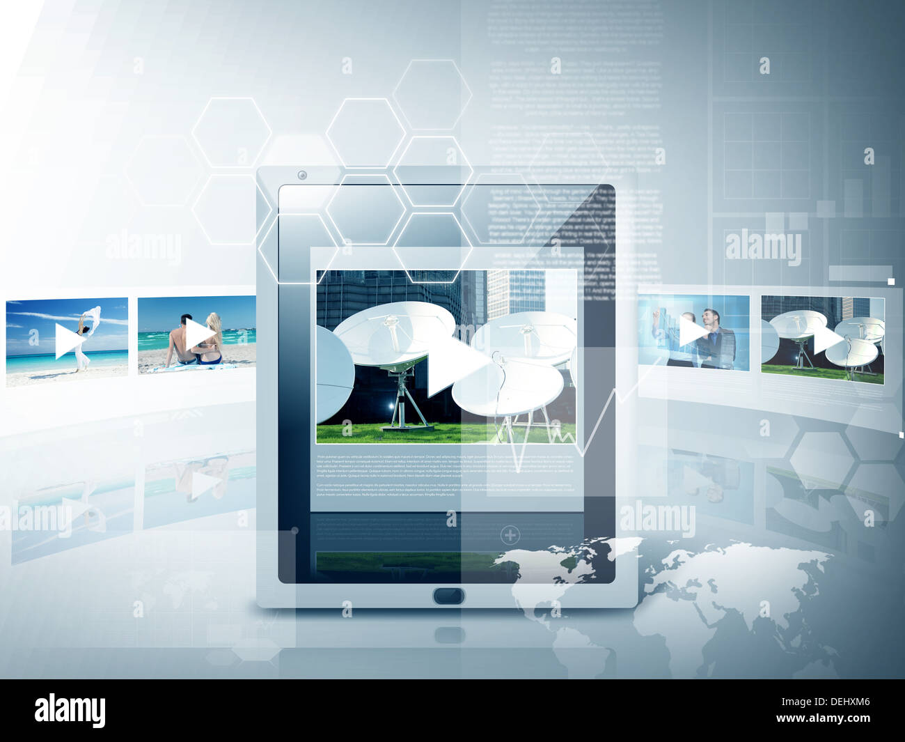 tablet pc with video player app Stock Photo: 60630422 - Alamy