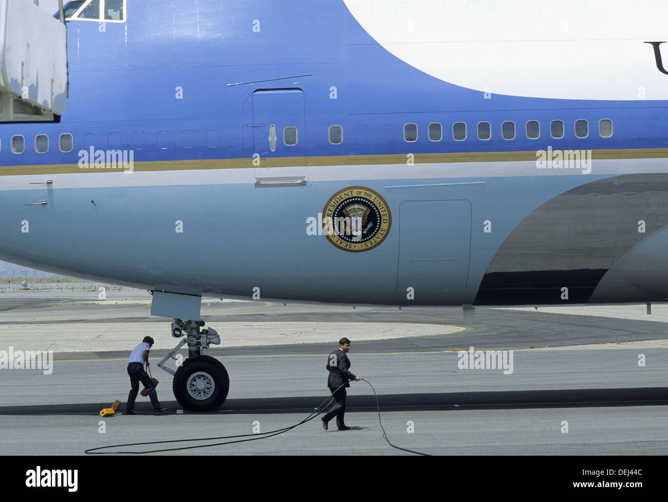 Air Force One, Presidential Plane, San Francisco, California - Stock Image