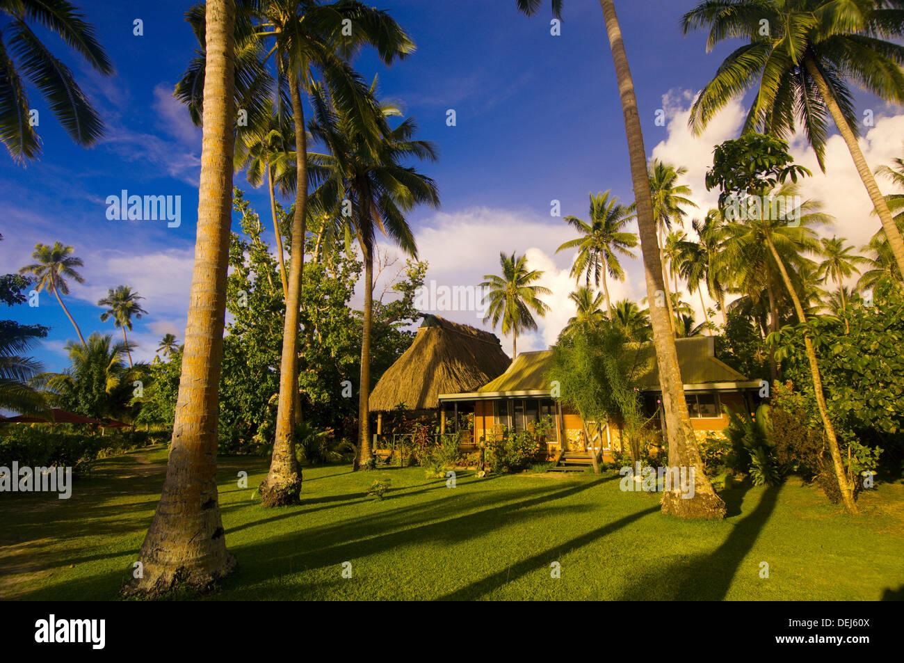 Beach Bure Nukubati Island Resort Fiji Islands Stock Photo