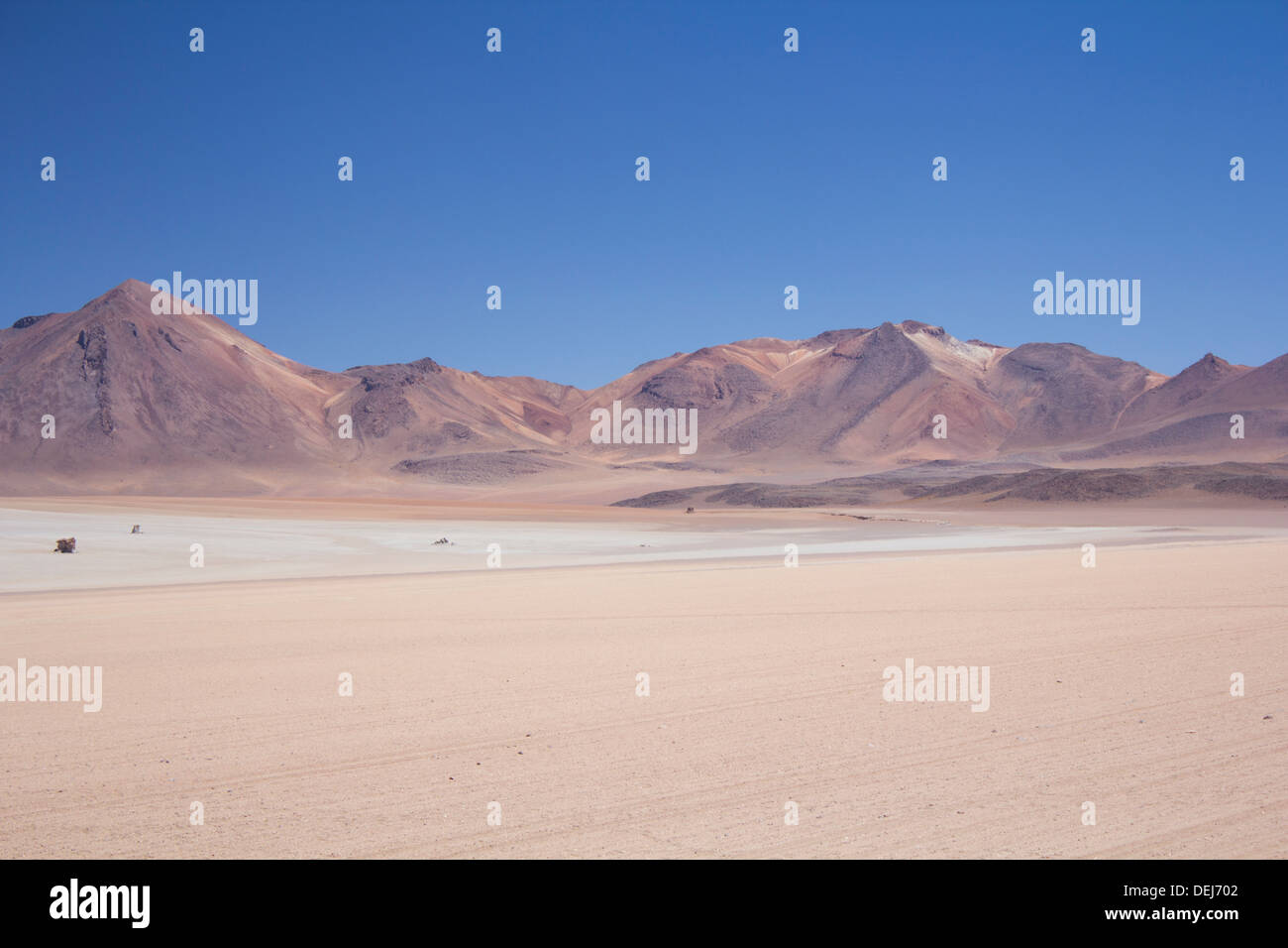 Rocks in the desert on the Bolivian Altiplano, South America - Stock Image