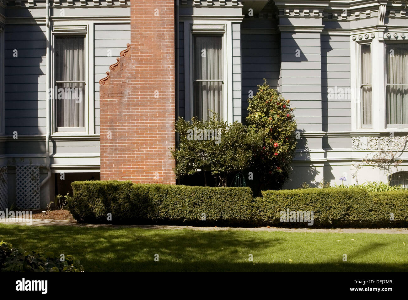 Haas-Lilienthal House, an historic Victorian home in San Francisco. California. USA. - Stock Image