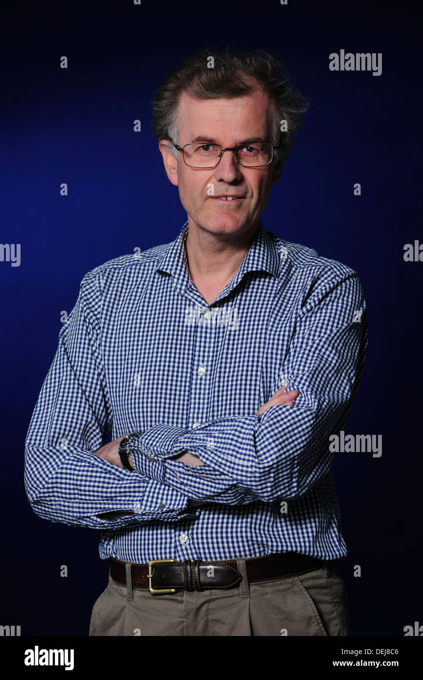 Robert Crawford, Scottish poet, scholar and critic, attending at the Edinburgh International Book Festival 2013 - Stock Image