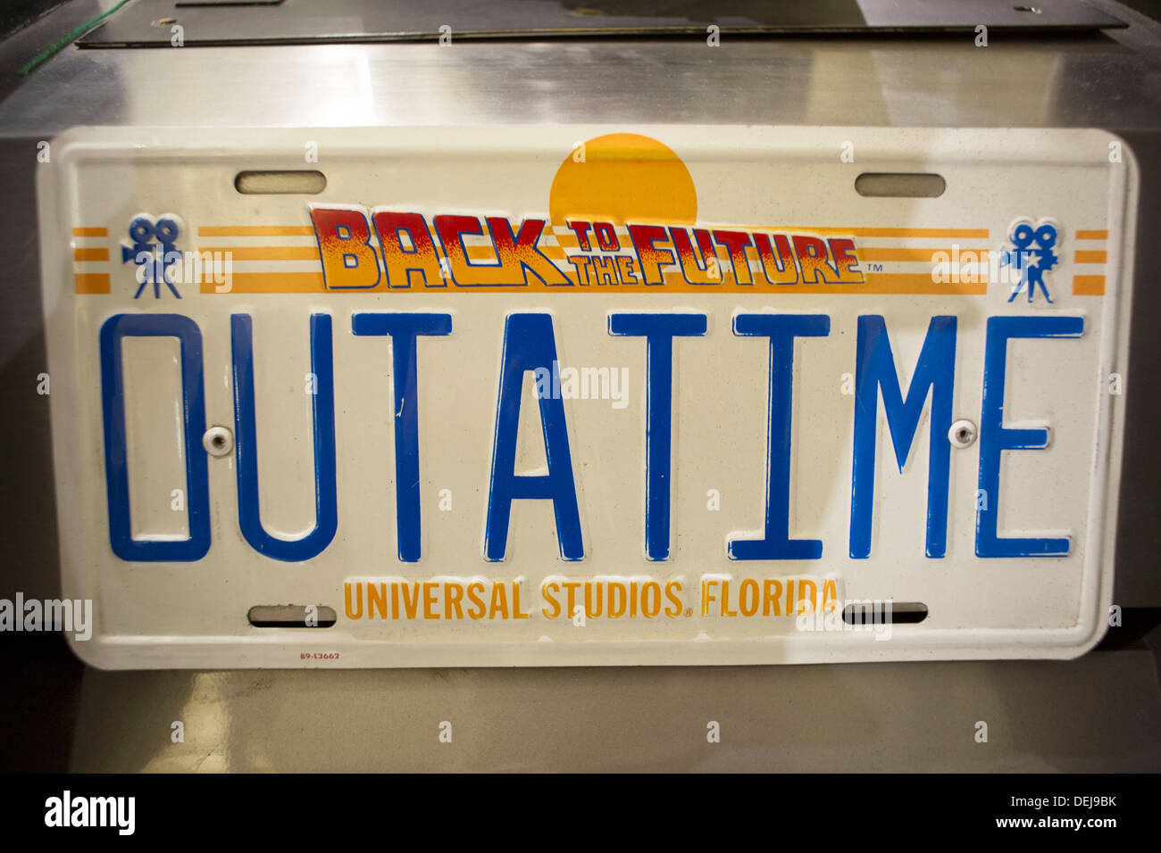 BACK TO THE FUTURE Official License Plate OUTATIME 20th Anniversary 2005 Japan