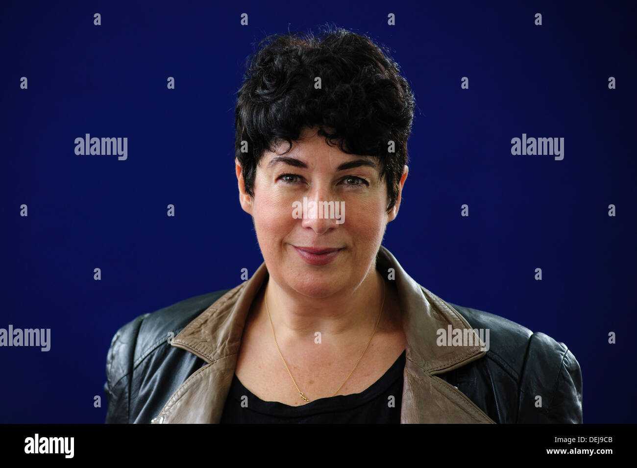 Joanne Harris, British author, attending the Edinburgh International Book Festival, Wednesday 21st August 2013. - Stock Image