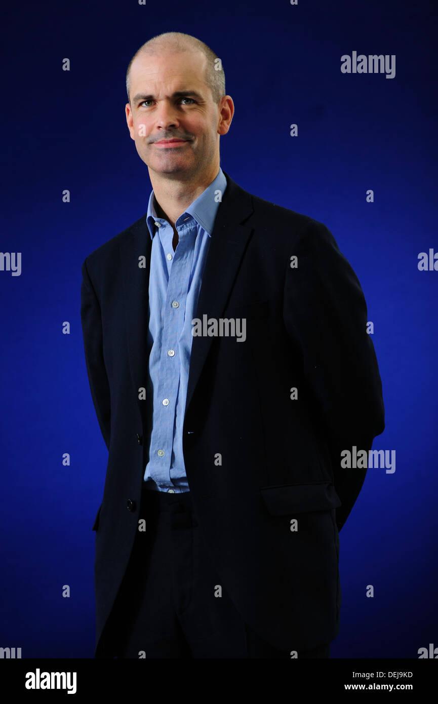 Felix Martin,  Macroeconomics expert, author, and bond investor, attending at the Edinburgh International Book Festival 2013 - Stock Image