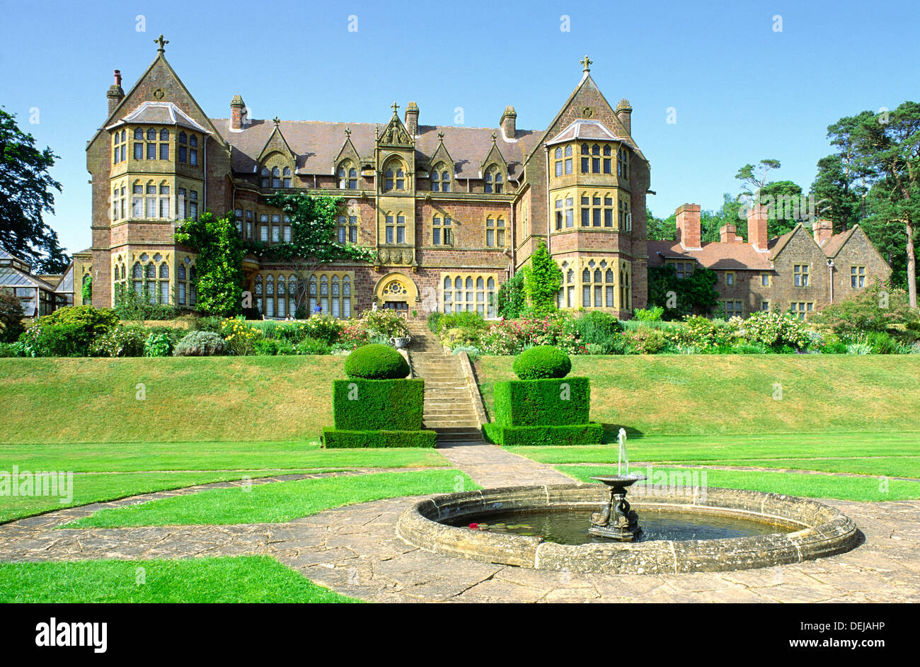 Knightshayes Court. Victorian country house near Tiverton, Devon, England. Home of the Heathcoat-Amory family now open to public - Stock Image