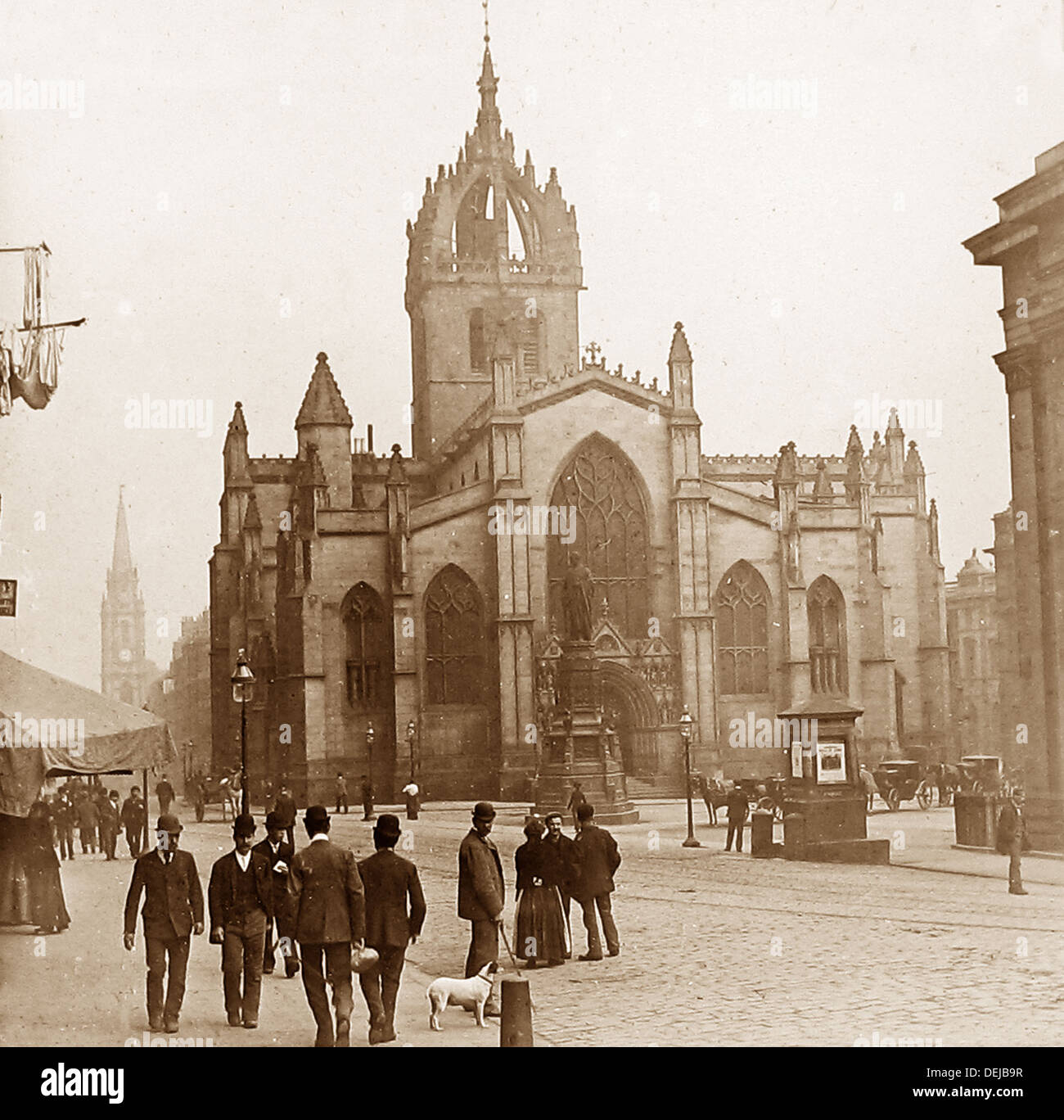 Edinburgh St. Giles Cathedral Royal Mile Victorian period - Stock Image