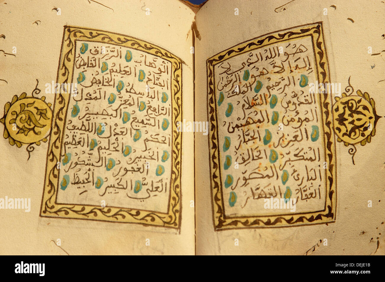The Prophet Muhammad´s 99 names in the Islam Stock Photo