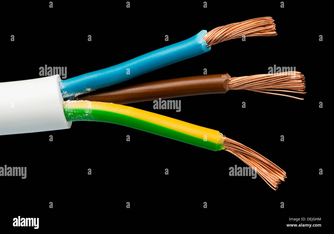 Exposed Wires Stock Photos Images Alamy Electronics Electricity Gt Optical Fiber Cable Wire Power Cables And Studio Shot Black Isolated Image