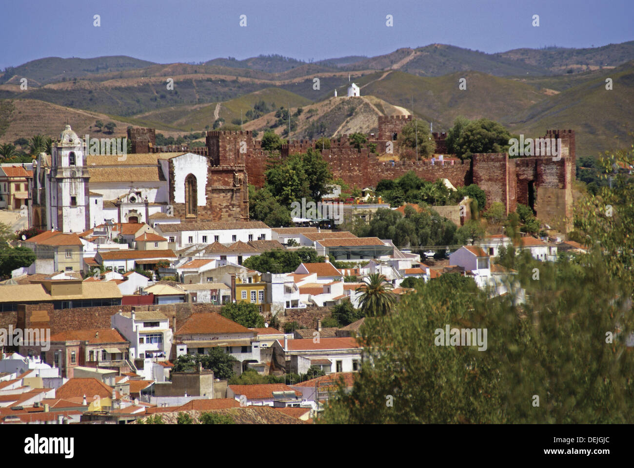 Portugal. Algarve. Silves. Moorish castle. Stock Photo