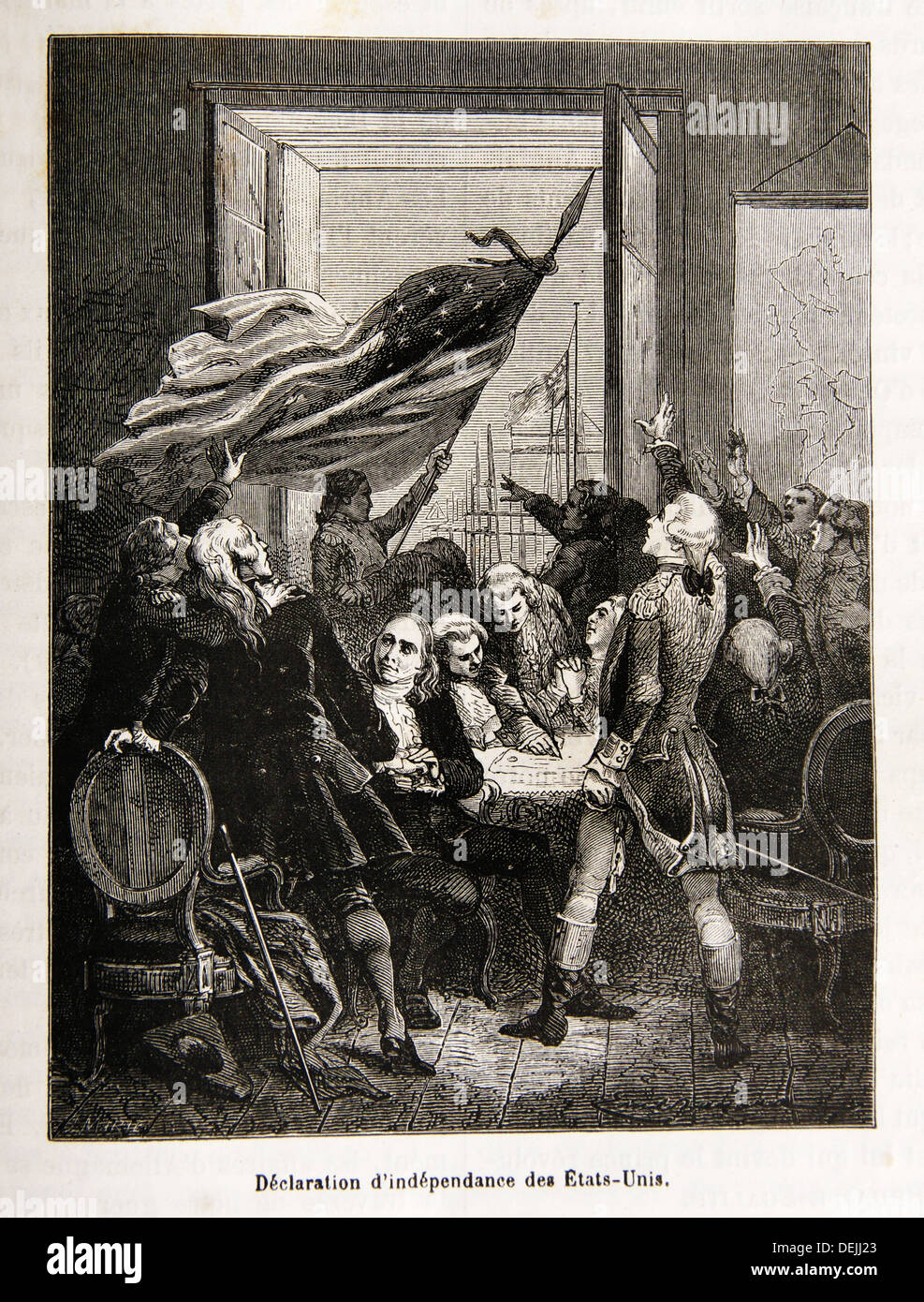 The United States Declaration of Independence is a statement adopted by the Continental Congress on July 4, 1776, which - Stock Image