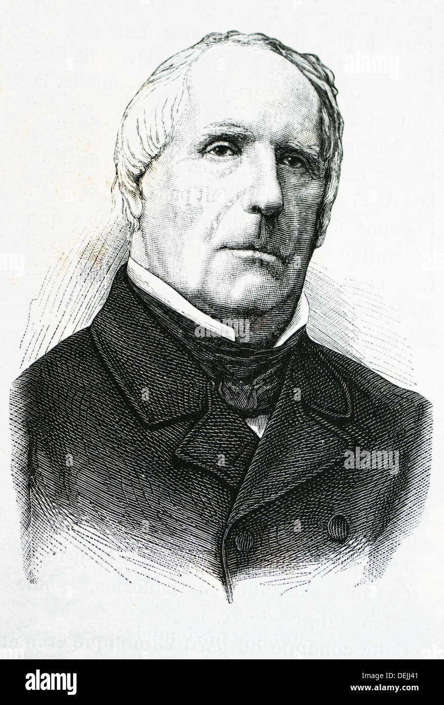 Edgar Quinet (February 17, 1803-March 27, 1875), French historian and intellectual - Stock Image