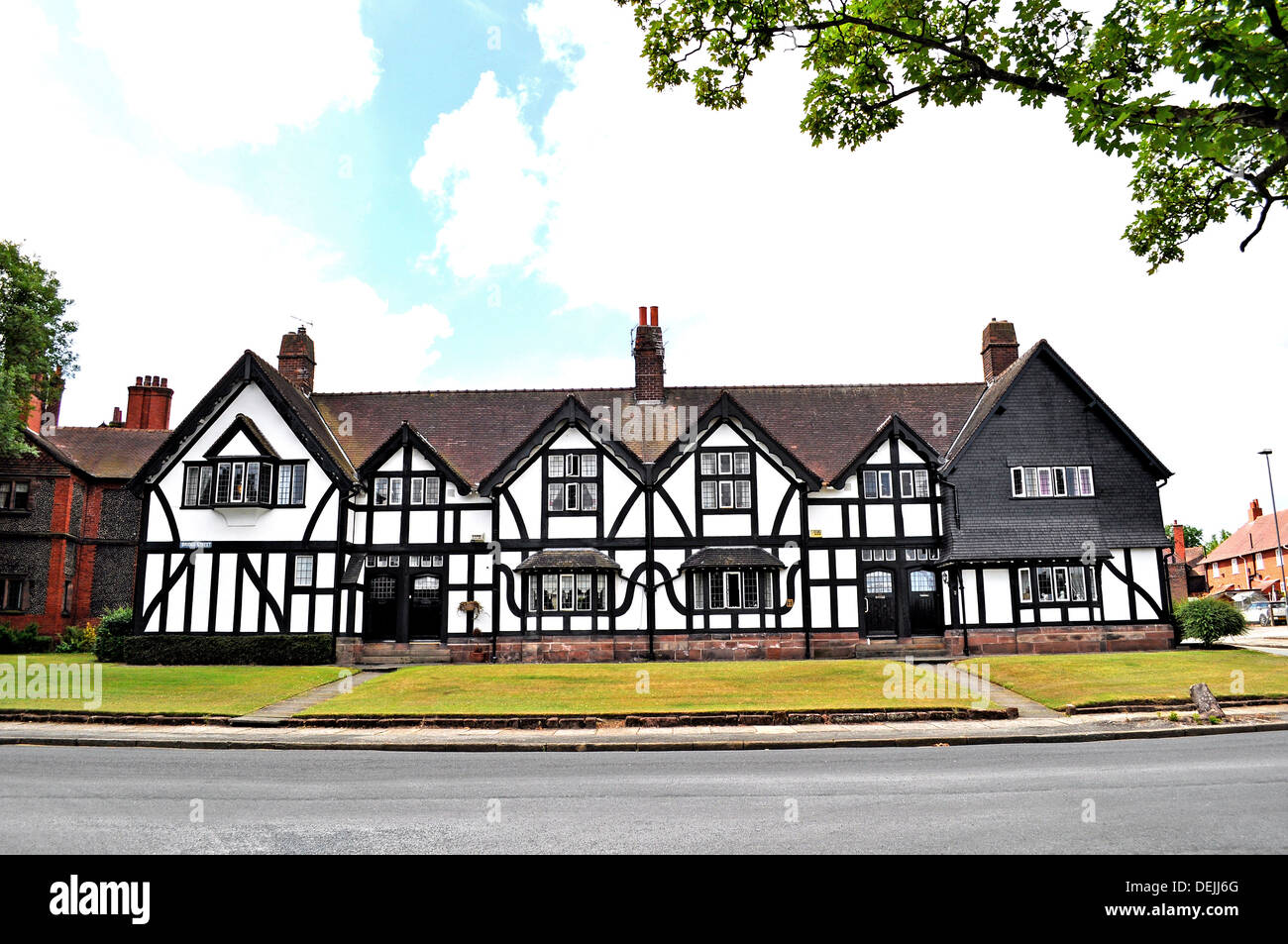 The village of Port Sunlight in Mersyside, UK - Stock Image