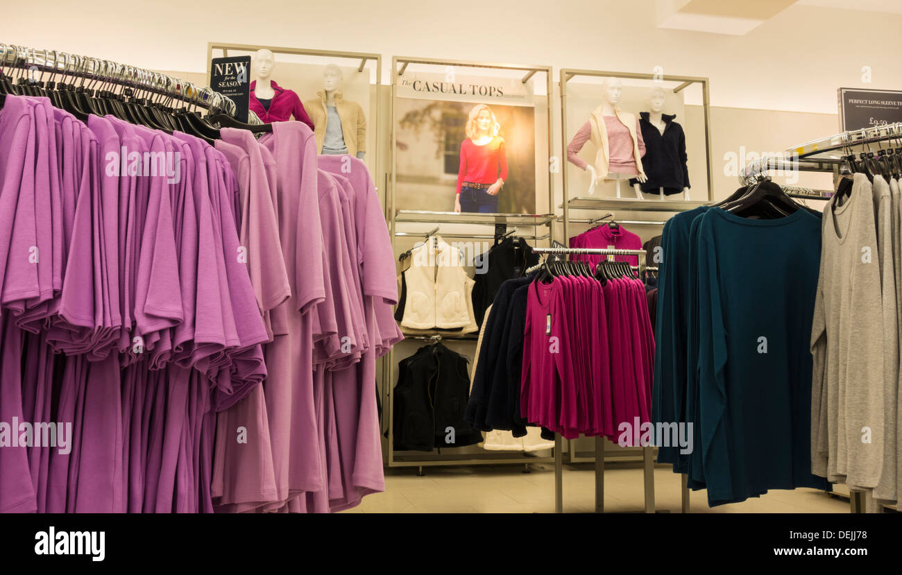 Women S Clothing Display In Marks Spencer Store England Uk Stock