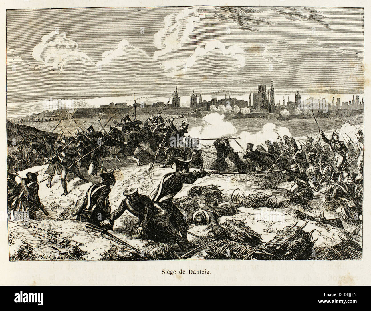 Germany-France-Poland-History-XIC - The Siege of Danzig 19 March - 24 May 1807 was the French encirclement and capture Stock Photo