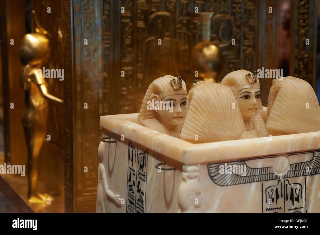 Tutankhamun - King Tut - His Tomb and his Treasures - Stock Image