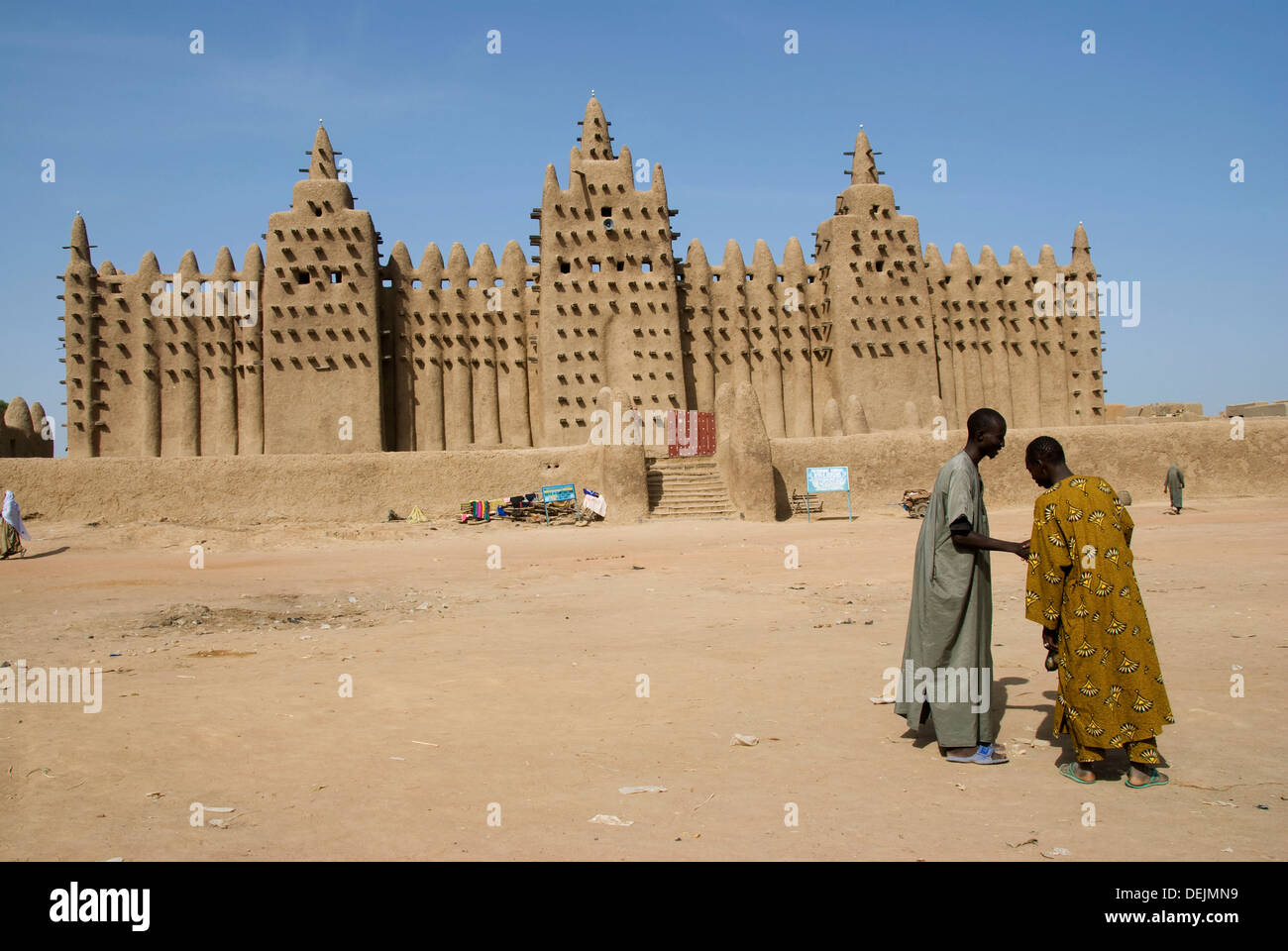 Great Mosque of Djenné. Djenné. Mopti region. Niger Inland Delta. Mali. West Africa. Stock Photo