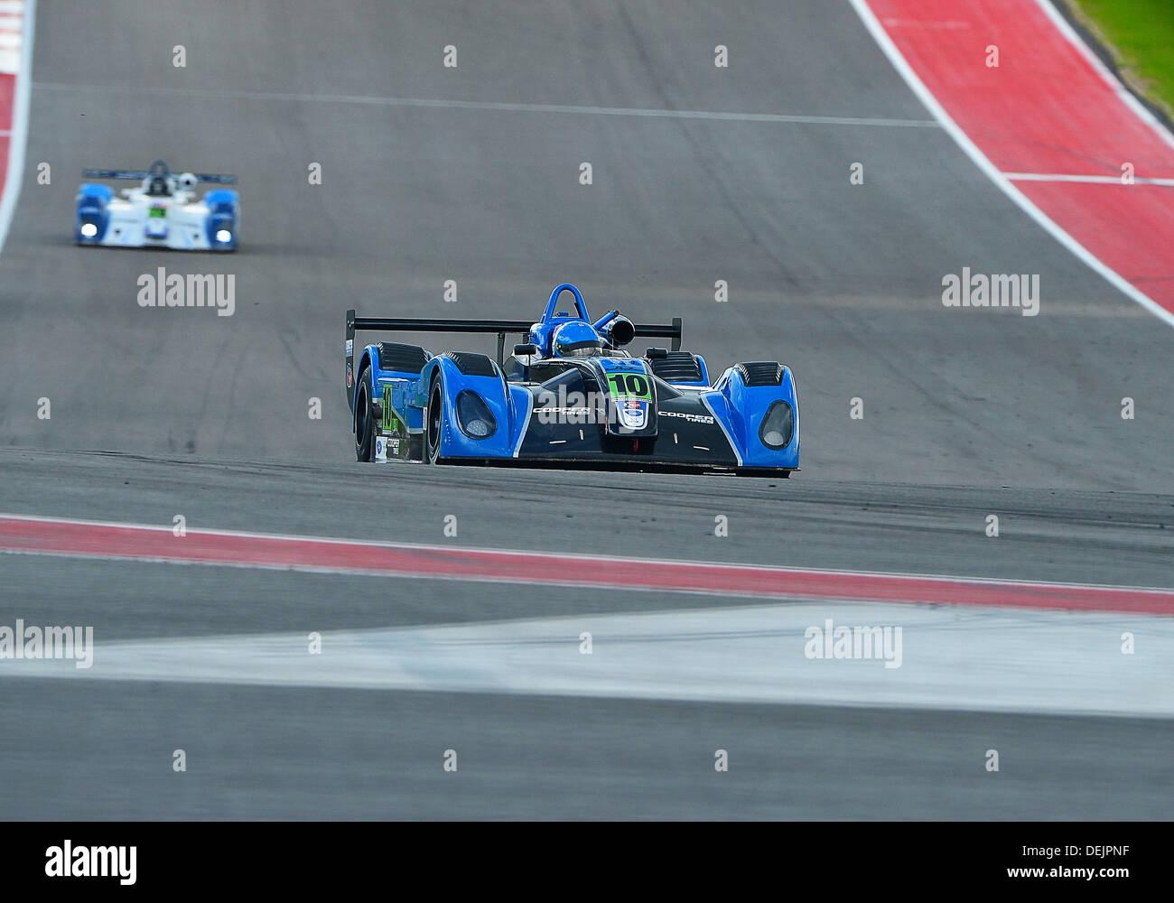 Austin, TX, USA. 19th Sep, 2013. September 19, 2013 .Mikhail Goikhberg / Vancouver, BC of JDC Motorsports driving Stock Photo