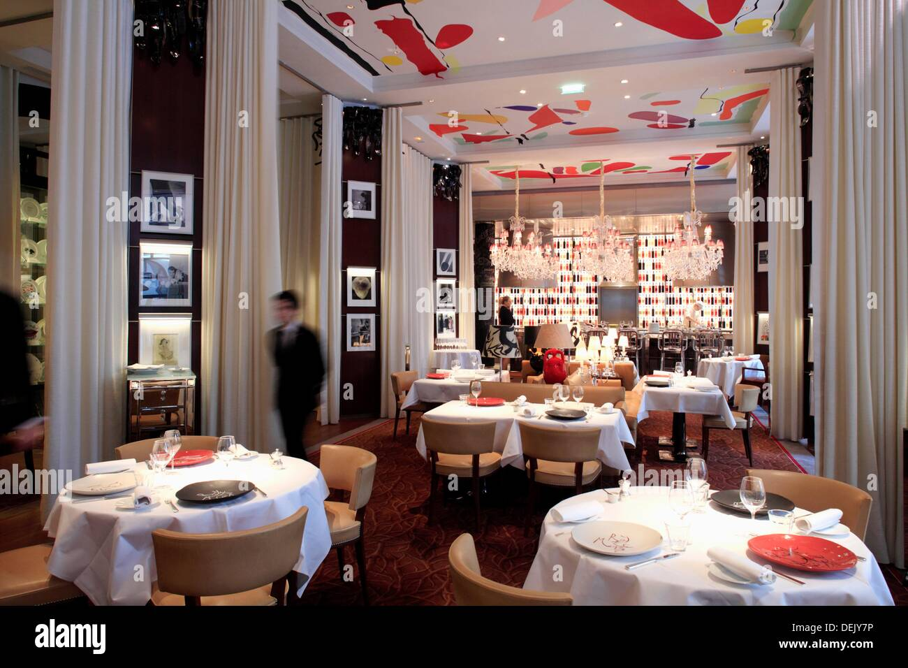 The Restaurant La Cuisine Designed By Philippe Starck In Hotel Le