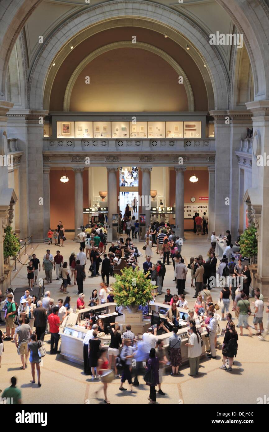 The Great Hall of Metropolitan Museum of Art  Manhattan  New York City  USA. Stock Photo