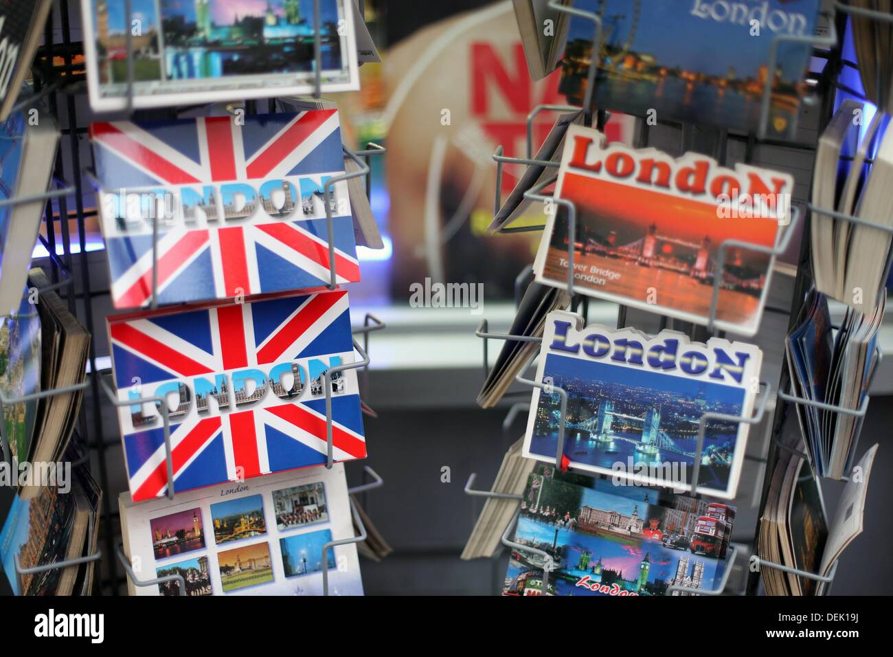 London postcards for sale, London, England, UK - Stock Image