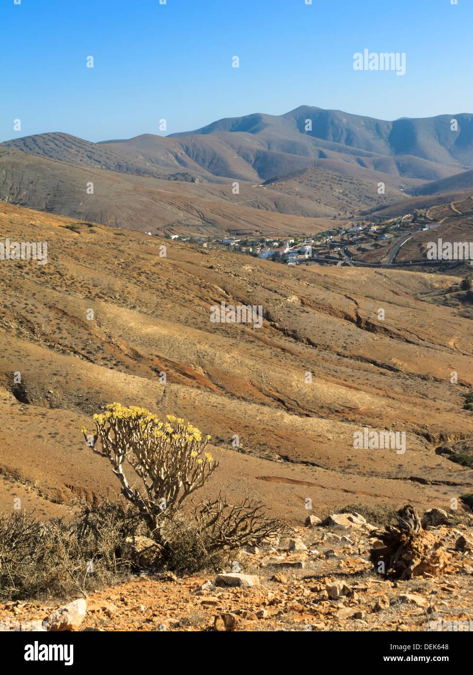 Parque Rural Fuerteventura Canary Islands Spain looking towards Betancuria Stock Photo