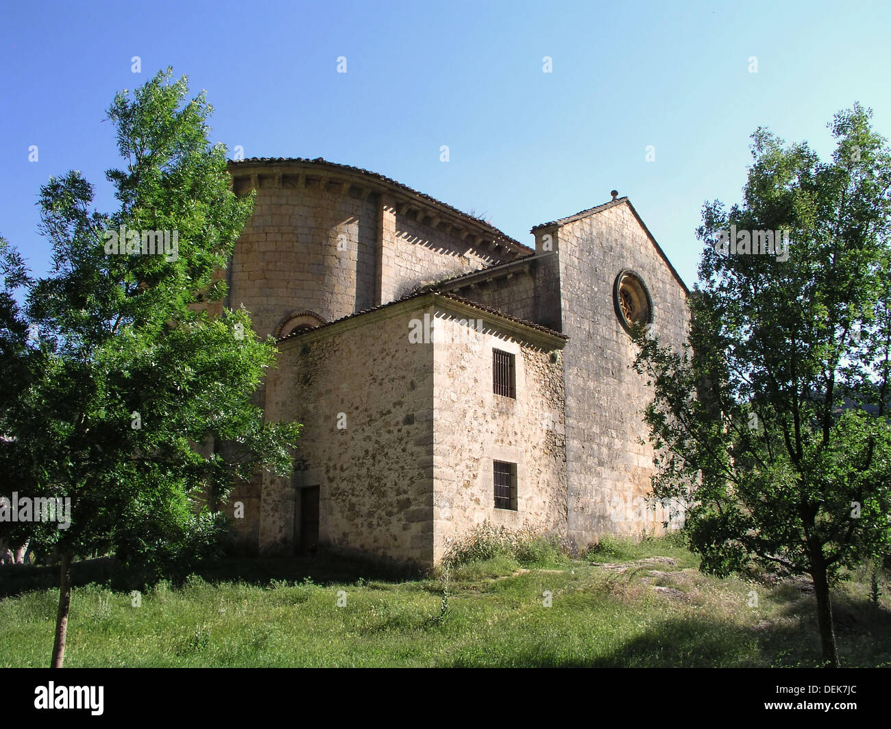 Ermita de San Bartolome. San Leonardo de Yagüe. Soria. Spain. Stock Photo