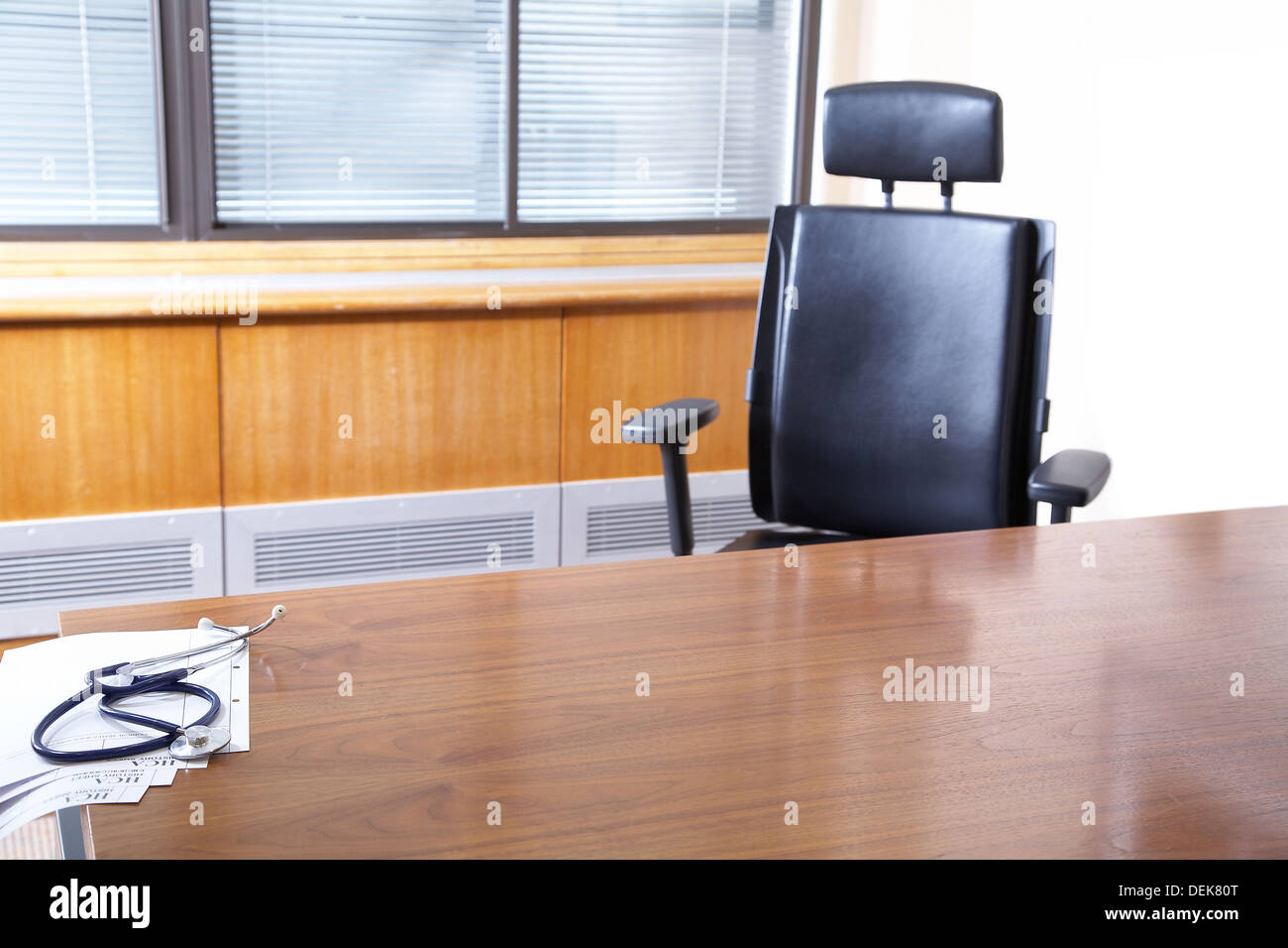 Black Desk Chair Leather High Resolution Stock Photography And Images Alamy