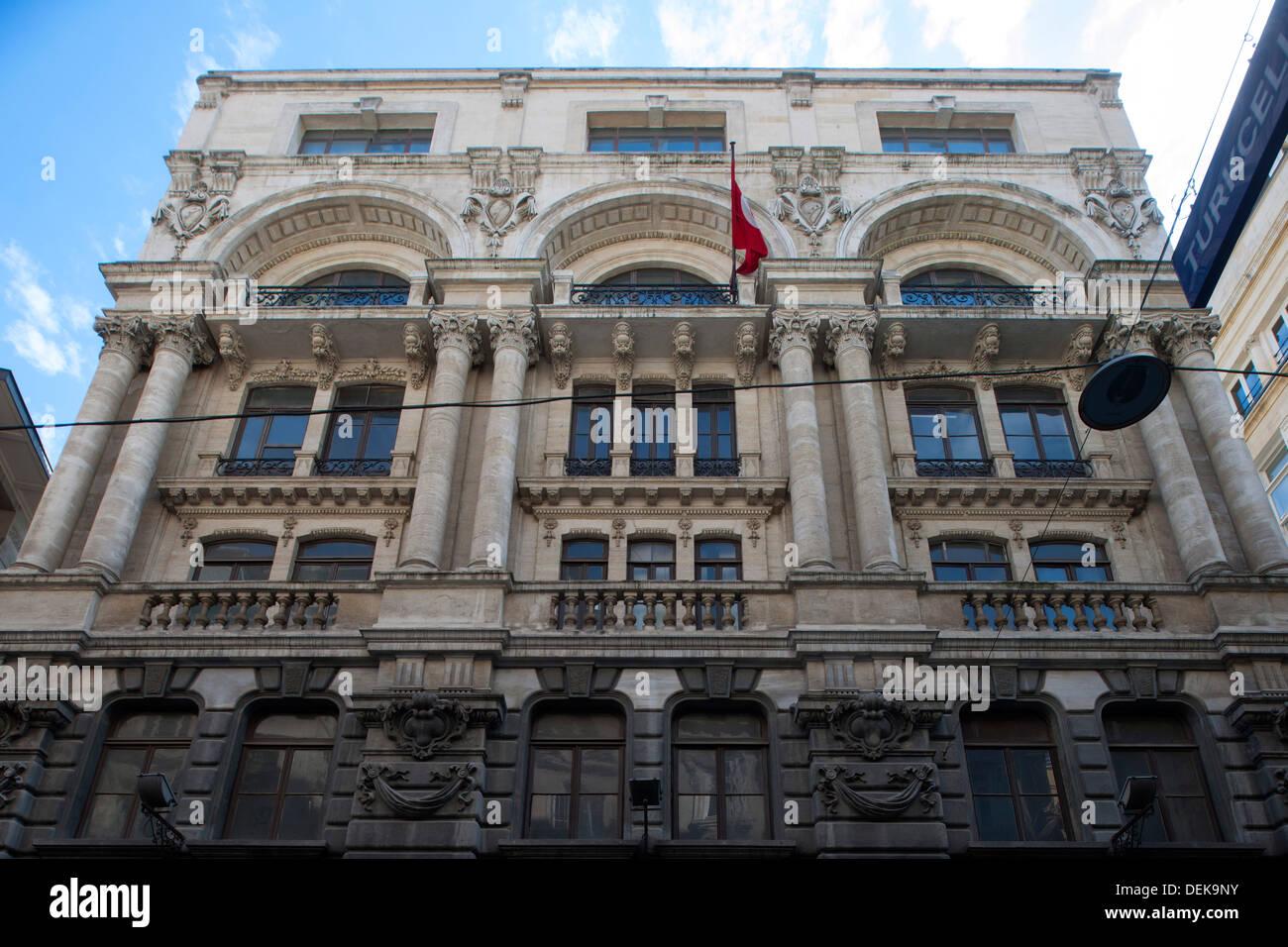 Istanbul, Galata, Bankalar Caddesi 1035, Sitz des italienischen Versicherungskonzerns Assicurazioni Generali - Stock Image