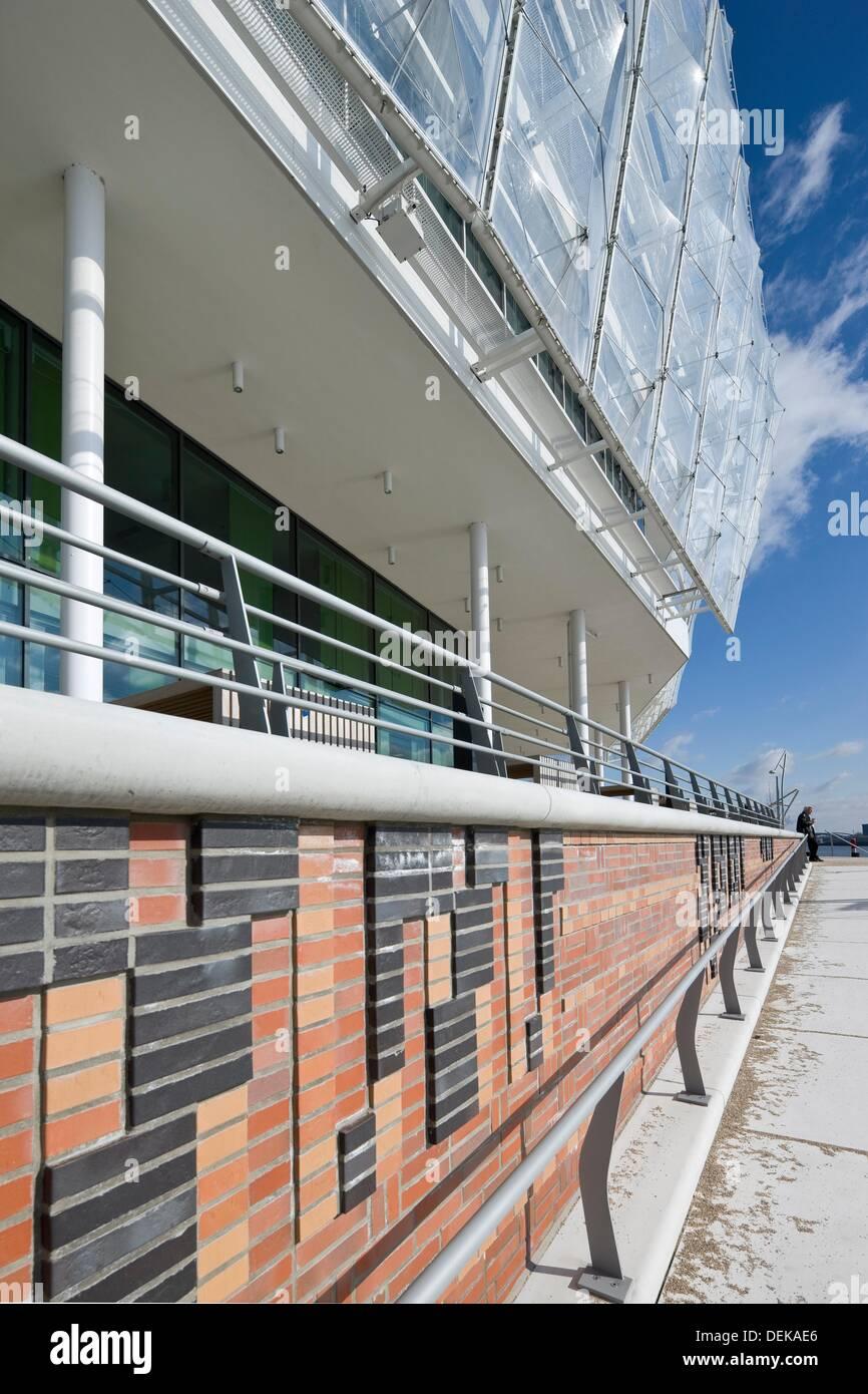 Unilever Building (architect: Behnisch Architekten), Hamburg, Germany. Stock Photo