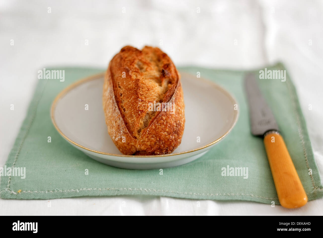 Bread, small roll - Stock Image