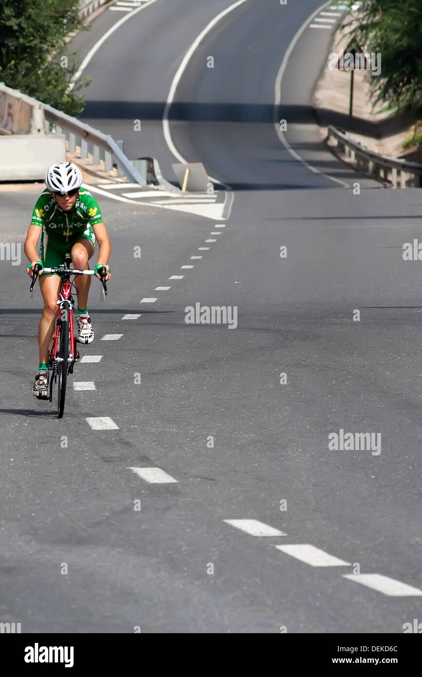 elite cyclist - Stock Image