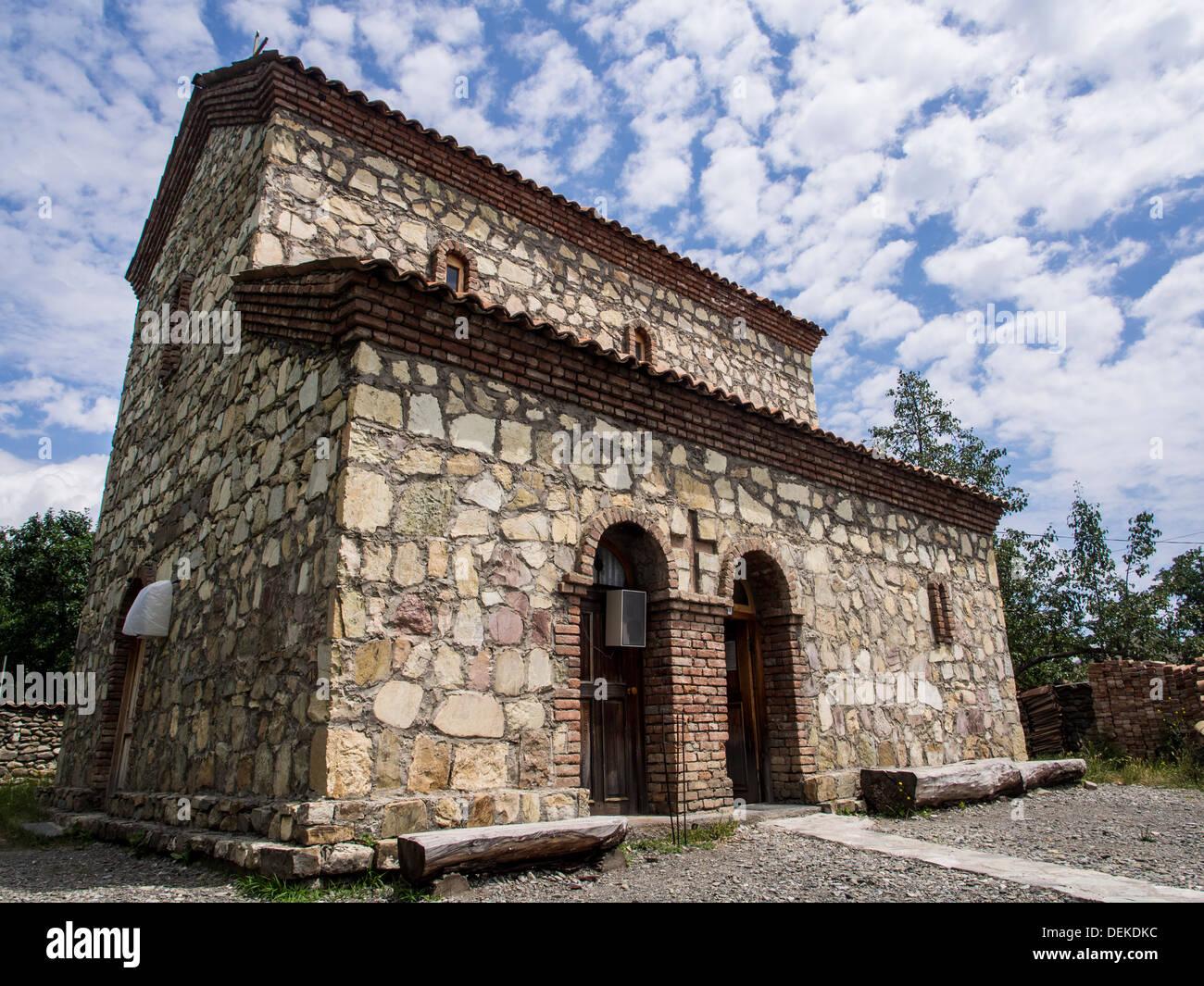 One of small village churches in Georgia, Caucasus. - Stock Image