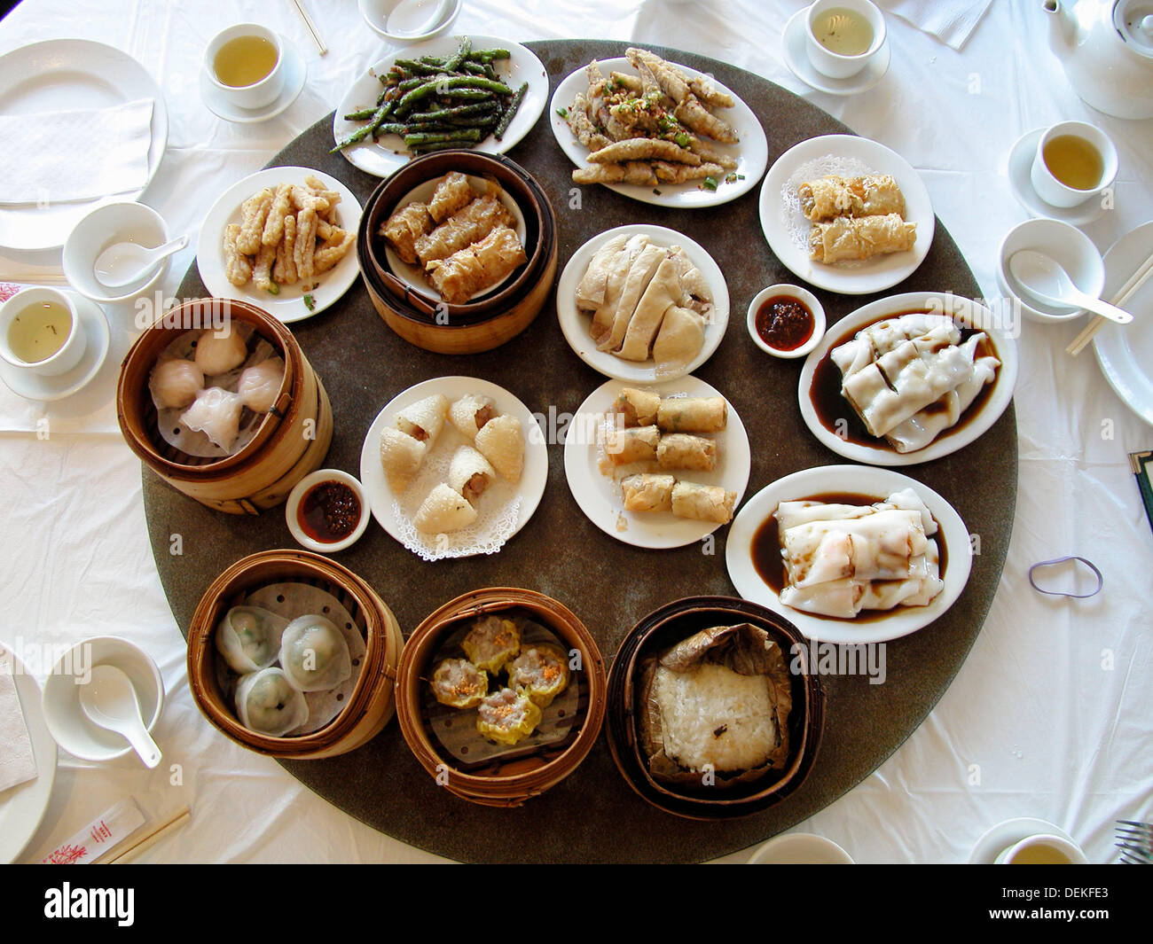 Chinese food in a restaurant. Vancouver, British Columbia, Canada Stock Photo
