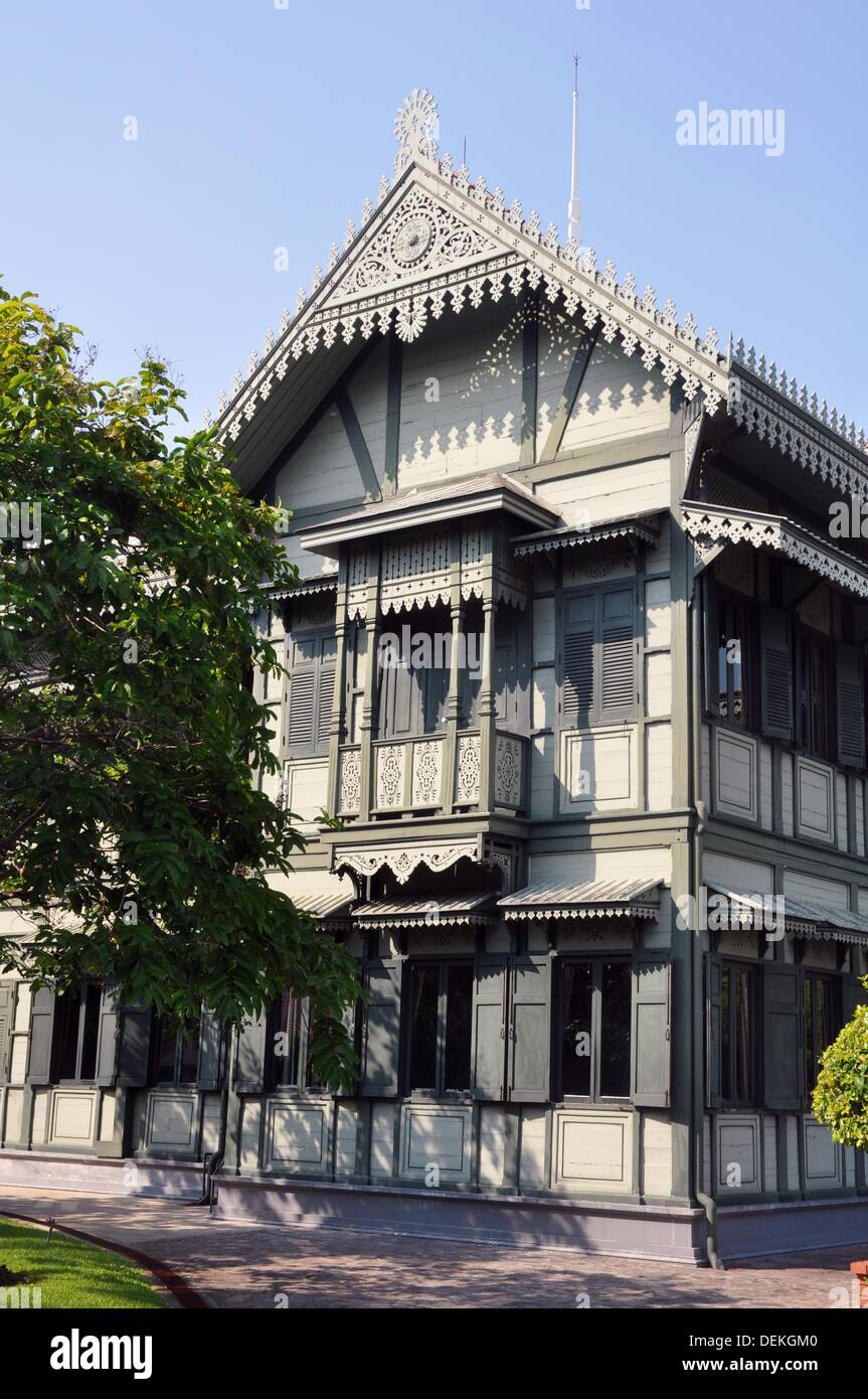 Bangkok Thailand Old Teakwood Building In The Vimanmek